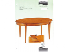 TABLE DIRECTOIRE OVALE